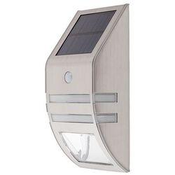 Kinkiet zewnętrzny ogrodowy solarny Rabalux Riejka 1x0,15W + 1x0,5W LED IP44 inox 8783, 8783