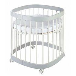 Elior Szaro-białe wielofunkcyjne łóżeczko dziecięce - nando 5x