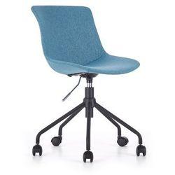 Halmar Tapicerowane krzesło obrotowe na czarnym stelażu doblo