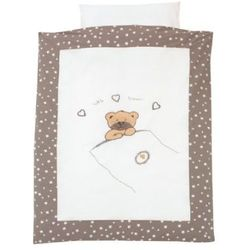 ALVI Komplet pościeli Little Bear kolor beżowy 100x135