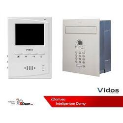 Zestaw jednorodzinny wideodomofonu VIDOS. Skrzynka na listy z wideodomofonem. Monitor 4.3'' S561D-SKP_M395W