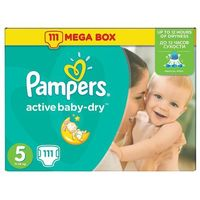 PAMPERS Active Baby pieluchy 5 Junior 111szt pieluszki Mega Box karton z kategorii Pieluchy jednorazowe