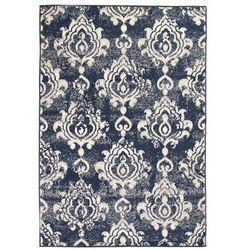 Nowoczesny dywan, wzór Paisley, 160 x 230 cm, beżowo-niebieski