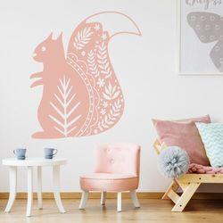 Wally - piękno dekoracji Naklejka na ścianę dla dzieci wiewiórka 2493