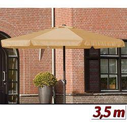 Wideshop Duży parasol ogrodowy o średnicy 350 cm z korbą - beżowy, kategoria: parasole ogrodowe