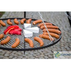 Grill na trójnogu z rusztem ze stali czarnej + palenisko ogrodowe 60 cm / 70 cm od producenta Korono