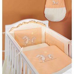 MAMO-TATO pościel 3-el Wesołe zajączki brzoskwiniowe do łóżeczka 60x120cm z kategorii komplety pościeli dla dzieci