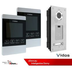 Vidos Zestaw dwurodzinny wideodomofonu z czytnikiem kart rfid s562a_m904s