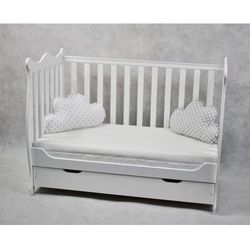 Łóżeczko niemowlęce z szufladą tapczanik hania białe marki Wujec