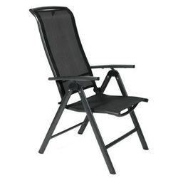 Krzesło ogrodowe składane aluminiowe vegas - czarne marki Edomator.pl