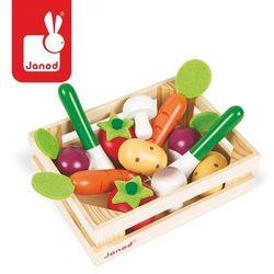 Zestaw drewnianych warzyw w skrzyneczce Janod z kategorii Skrzynki i walizki narzędziowe