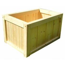 Prostokątna drewniana donica ogrodowa 15 kolorów - unisa marki Elior