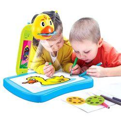 Kindersafe Projektor z tablicą do rysowania 21 obrazków + pisaki 8196 (5902927969581)