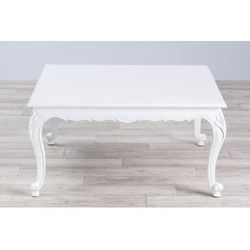 Dekoria stolik kawowy arlette 100x100x50cm white, 100 × 100 × 50