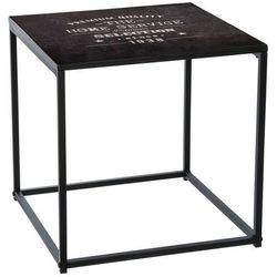 Atmosphera créateur d'intérieur Kwadratowy stolik kawowy na metalowych nogach, stolik do kawy, stolik do pokoju, stolik do salonu, czarny stolik, mały stolik