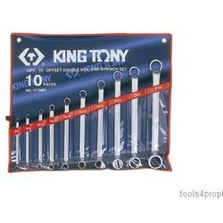 Zestaw kluczy oczkowych odgiętych 75° 10cz. 6 - 32mm 1710mr marki King tony