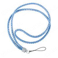 Długa nylonowa smycz do telefonu na rękę szyję 45cm niebieska - Niebieski z kategorii Gadżety