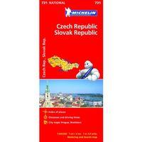 Czechy i Słowacja mapa 1:600 000 Michelin (9782067171855)
