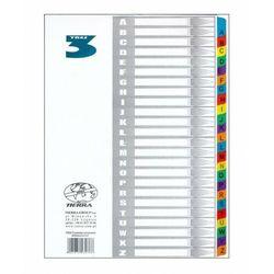 Przekładki kartonowe laminowane A4 A-Z kolorowe, 5901878230788