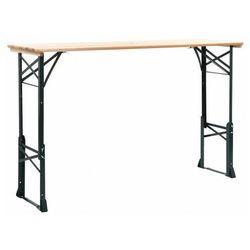 Klasyczny składany stół ogrodowy - glenn marki Elior