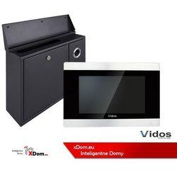 Vidos Zestaw skrzynka na listy z wideodomofonem monitor 7 cali.