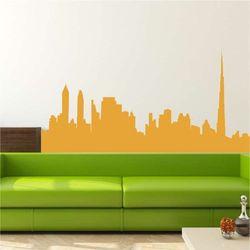 Wally - piękno dekoracji Szablon do malowania panorama miasta skyline 2279