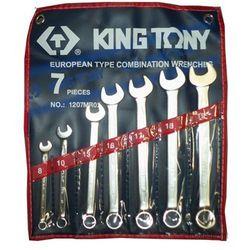 ZESTAW KLUCZY PŁASKO-OCZKOWYCH 7cz. 8 - 19mm King Tony 1207MR02 (4710591967540)