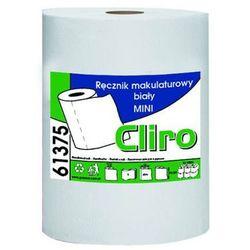 Clean Ręcznik papierowy w roli mini 1 warstwa 65 m biały makulatura