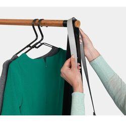 - zestaw 4 wieszaków na ubrania, czarny - czarny marki Brabantia