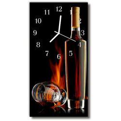 Zegar Szklany Pionowy Kuchnia Alkohol butelka brązowy, kolor brązowy