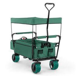 Waldbeck The Green Supreme Wózek domowy Wózek ręczny składany 68 kg Dach przeciwsłoneczny