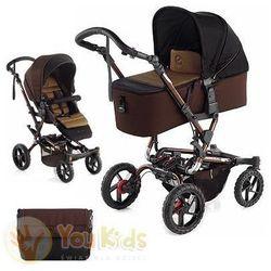 Od youkids crosswalk 3w1 wózek + gondola micro + fotelik koos s52 brown marki Jane