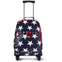 Penny Scallan Design, walizka na czterech kółkach, granatowa w gwiazdki