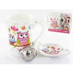 Kpl. - kubek + teabag + zaparzacz - sowy - produkt z kategorii- Zaparzacze i kawiarki