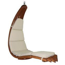 Drewniany leżak wiszący, miodowy beż Wave-B