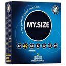 Dopasowane prezerwatywy - My Size Natural Latex Condom 49mm 3szt (4025838820121)