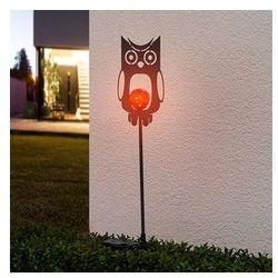 Lampenwelt Metalowa dekoracyjna lampa solarna sowa (4251096512311)