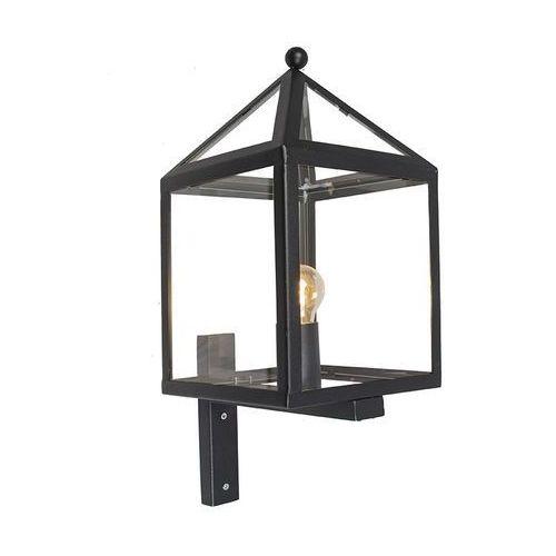 Zewnętrzna lampa ścienna Amsterdam 1 czarna - produkt z kategorii- lampy ścienne