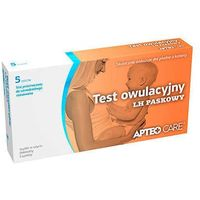 Apteo care test owulacyjny lh paskowy x 5 sztuk w opakowaniu marki Synoptis pharma