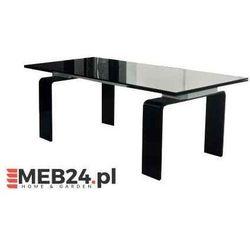 Stół szklany ATLANTIS BLACK 160/240 - szkło