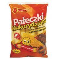 Pałki kukurydziane z kremem czekoladowym 80g Seykos