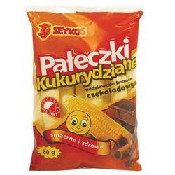 Pałki kukurydziane z kremem czekoladowym 80g  wyprodukowany przez Seykos