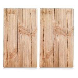 Szklane płyty ochronne wood na kuchenkę – 2 sztuki, marki Zeller