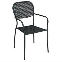 Bolero Krzesło ogrodowe czarne   55x58x(h)95cm
