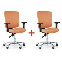 Krzesło biurowe Hilsch 1+1 gratis, pomarańczowy
