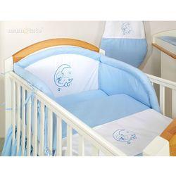MAMO-TATO pościel 2-el Miś na księżycu w błękicie do łóżeczka 70x140cm z kategorii komplety pościeli dla dzieci