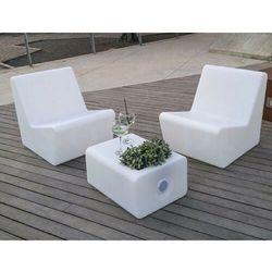New garden fotel tarida sit solar biały - led, sterowanie pilotem marki Sofa.pl