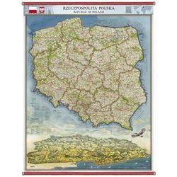 Polska panorama administracyjno-drogowa mapa ścienna 96 x 136 cm Pergamena (mapa szkolna) od ArtTravel.pl