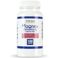 MYVITA Magnez + Witamina B6 100 tabl. - tabletki witaminy i minerały