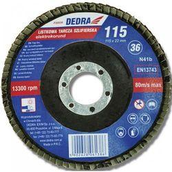 Tarcza do szlifowania DEDRA F20060 115 x 22.2 gradacja 60 listkowa - produkt z kategorii- Pozostałe narzędzia elektryczne